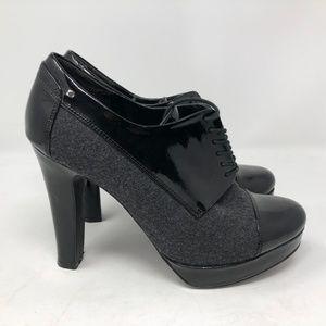 Sam & Libby Slashin oxford booties black heeled